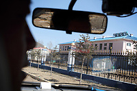 """China. Jilin Province. The outside of The """"Yanbian Public Security Bureau Forced Isolation Drug Treatment Center"""" , just outside the town of Yanji, close to the border with North Korea. The town is part of the Korean Autonomous Prefecture in the north-east of the country. 2011"""
