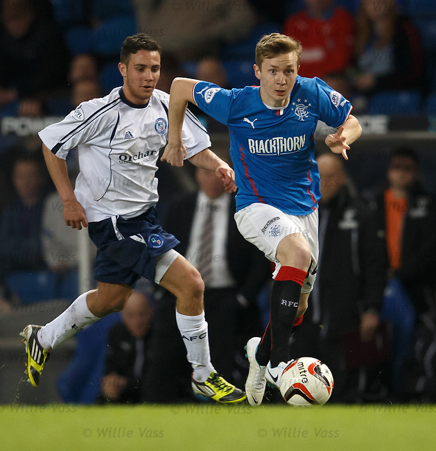 Robbie Crawford attacking for Rangers
