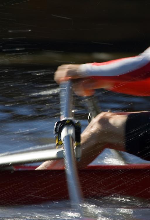 Rowing, Bent oar, Head of the Charles Regatta, Potomac Boat Club, Marc Gwadz, Senior Master Singles Men, Rowers, 2006  Cambridge, Massachusetts, USA. Saturday October 21, 2006