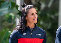 ORLANDO, FL - FEBRUARY 28: Ali Krieger #11 of the United States listens during a SheBeleives press conference at City Hall on February 28, 2020 in Orlando, Florida.