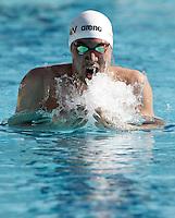 Il giapponese Ryo Tateishi gareggia nei 200 metri rana uomini durante la terza giornata del Trofeo Settecolli di nuoto al Foro Italico, Roma, 16 giugno 2012..Japan's Ryo Tateishi competes in the Men's 200 meters Breaststroke during the third day of the Seven Hills swimming trophy in Rome, 16 june 2012..UPDATE IMAGES PRESS/Riccardo De Luca
