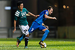 SC Kitchee Defender Daniel Cancela Rodriguez (R) dribbles Yingzhi Ju of Long Lions (L) during the Community Cup match between Kitchee and Eastern Long Lions at Mong Kok Stadium on September 23, 2017 in Hong Kong, China. Photo by Marcio Rodrigo Machado / Power Sport Images