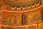 12th century mosaics in the Basilica of Our Lady in Trastevere in Rome, Italy