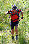 No Alan, it's not a duathlon.  Alan Eskrick looks for his bike after missing a turn at the foot of the steep descent. Mammoth Adventure MTB Ride, Nelson<br /> Photo: Marc Palmano/shuttersport.co.nz