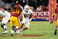 LOS ANGELES, CA - SEPTEMBER 11: Bradley Archer during a game between University of Southern California and Stanford Football at Los Angeles Memorial Coliseum on September 11, 2021 in Los Angeles, California.