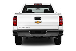 Straight rear view of 2016 Chevrolet Silverado 1500 LS 4 Door Pickup Rear View  stock images