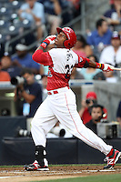 Infielder Dominic Smith #22 of Serra H.S. in Los Angeles, California participates in the Perfect Game All American Classic at Petco Park on August 12, 2012 in San Diego, California. (Larry Goren/Four Seam Images)