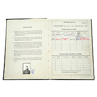 BNPS.co.uk (01202) 558833. <br /> Pic: Fellows/BNPS<br /> <br /> Pictured: Corporal Peter Melhuish's dive log book. <br /> <br /> A former British Army diver is selling the wristwatch he wore during the raising of the Mary Rose for £26,000.<br /> <br /> Corporal Peter Melhuish, of the Royal Engineers, had the Rolex Submariner 5513 on when Henry VIII's famous warship was lifted from The Solent in 1982.<br /> <br /> He also wore the diver's wristwatch during operations off the Falkland Islands after Britain and Argentina went to war that year.<br /> <br /> Peter, from Tunbridge Wells, Kent, has owned the timepiece since 1979 and put it on regularly up until five years ago. Since then, it has been kept in his sock drawer and he has now decided to sell it with Fellows Auctioneers, of Birmingham.