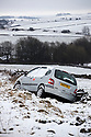 08/03/18<br /> <br /> A car lies in a ditch by the A515 near Hartington after snow returns to the Derbyshire Peak District.<br /> <br /> All Rights Reserved F Stop Press Ltd. +44 (0)1335 344240 +44 (0)7765 242650  www.fstoppress.com