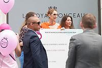 July 9 2017, PARIS FRANCE Singer Celine Dion leaves the Royal Monceau Hotel on Avenue Hoche