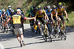 Feed bag for Jumbo-Visma during Stage 20 of La Vuelta d'Espana 2021, running 202.2km from Sanxenxo to Mos, Spain. 4th September 2021.    <br /> Picture: Luis Angel Gomez/Photogomezsport | Cyclefile<br /> <br /> All photos usage must carry mandatory copyright credit (© Cyclefile | Luis Angel Gomez/Photogomezsport)