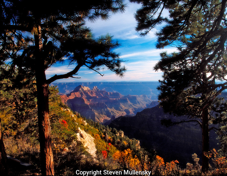 The North Rim of the Grand Canyon is opened only part of the year due to seasonal snows that block the roadway into the park. Once in the park the views are as incredible and varied as from the South Rim which is 10 miles across the canyon.