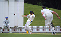 Peter Younghusband bats during day three of the Plunket Shield match between the Wellington Firebirds and Auckland Aces at the Basin Reserve in Wellington, New Zealand on Monday, 16 November 2020. Photo: Dave Lintott / lintottphoto.co.nz