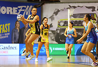 Tiana Metuarau in action during the ANZ Championship netball match between Northern Mystics and Central Pulse at the Auckland Netball Centre in Auckland, New Zealand on Saturday 18 July 2020. Photo: Simon Watts / bwmedia.co.nz