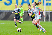 Sari Kees (2) of OHL pictured during a female soccer game between Eendracht Aalst and OHL on the 13 th matchday of the 2020 - 2021 season of Belgian Scooore Womens Super League , Saturday 6 th of February 2021  in Aalst , Belgium . PHOTO SPORTPIX.BE | SPP | STIJN AUDOOREN