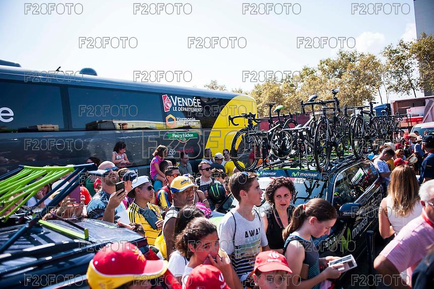 Castellon, SPAIN - SEPTEMBER 7: Fans during LA Vuelta 2016 on September 7, 2016 in Castellon, Spain