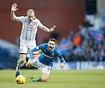 Liam Boyce fouls Jon Toral