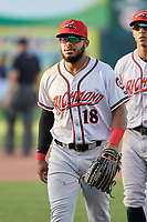 Richmond Flying Squirrels Heliot Ramos (18) after an Eastern League game against the Erie SeaWolves on August 28, 2019 at UPMC Park in Erie, Pennsylvania.  Richmond defeated Erie 6-4 in the first game of a doubleheader.  (Mike Janes/Four Seam Images)