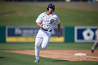 Detroit Tigers Colt Keith (4) running the bases during a Florida Instructional League game against the Pittsburgh Pirates on October 16, 2020 at Joker Marchant Stadium in Lakeland, Florida.  (Mike Janes/Four Seam Images)
