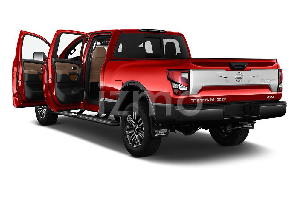 Car images of 2021 Nissan Titan-XD Platinum-Reserve 4 Door Pick-up Doors