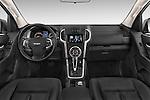 Stock photo of straight dashboard view of a 2015 Isuzu D-Max LSX 4 Door Pickup 2WD Dashboard
