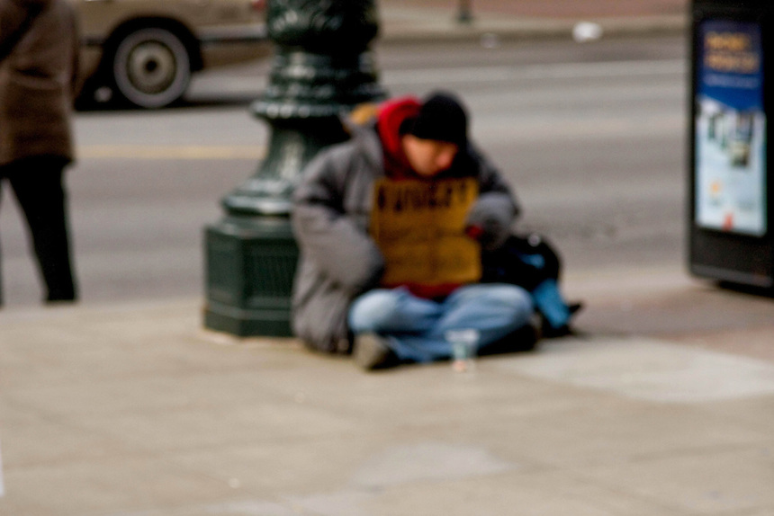 Homeless people as seen on the streets of Chicago, Illinois.<br /> <br /> To many people, government officials included, the homeless seem like nothing but a blur, a mirage.