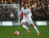 Matt Grimes of Swansea   during the Emirates FA Cup 3rd Round between Oxford United v Swansea     played at Kassam Stadium  on 10th January 2016 in Oxford