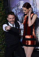 Chris Hardwick + Lydia Hearst @ the VIP opening for The Wizarding World of Harry Potter held @ the Universal Studiio Hollywood.<br /> April 5, 2016