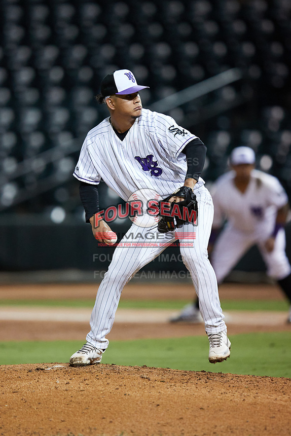 Winston-Salem Dash starting pitcher Jesus Valles (26) in action against the Bowling Green Hot Rods at Truist Stadium on September 9, 2021 in Winston-Salem, North Carolina. (Brian Westerholt/Four Seam Images)