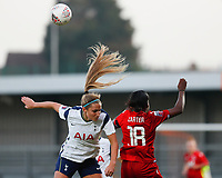 Shelina Zadorsky of Tottenham and Danielle Carter of Reading battle for the ball during Tottenham Hotspur Women vs Reading FC Women, Barclays FA Women's Super League Football at the Hive Stadium on 7th November 2020