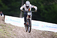 29th August 2021; Commezzadura, Trentino, Italy; 2021 Mountain Bike Cycling World Championships, Val di Sole; Downhill; Downhill final men, Max Hartenstern (GER)