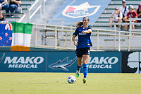 CARY, NC - SEPTEMBER 12: Abby Erceg #6 of the NC Courage gives instructions during a game between Portland Thorns FC and North Carolina Courage at Sahlen's Stadium at WakeMed Soccer Park on September 12, 2021 in Cary, North Carolina.