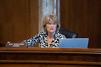 United States Senator Lisa Murkowski (Republican of Alaska) listens during a U.S. Senate Committee on Energy and Natural Resources hearing on Capitol Hill in Washington D.C., U.S., on Wednesday, June 24, 2020.  Credit: Stefani Reynolds / CNP/AdMedia/AdMedia