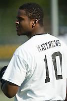 Bristol third baseman Jedon Matthews (10) during batting practice at Burlington Athletic Park in Burlington, NC, Thursday, July 12, 2007.