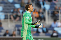SAINT PAUL, MN - MAY 15: Tyler Miller #1 of Minnesota United FC during a game between FC Dallas and Minnesota United FC at Allianz Field on May 15, 2021 in Saint Paul, Minnesota.