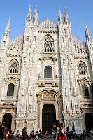 La facciata del Duomo di Milano.<br /> The facade of the Duomo of Milan.<br /> UPDATE IMAGES PRESS/Riccardo De Luca