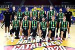 LLIGA NACIONAL CATALANA ACB 2020 AON.<br /> Morabanc Andorra vs Club Joventut Badalona: 77-75.<br /> Club Joventut de Badalona Team