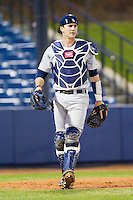 Georgia Southern Eagles catcher Chase Griffin (23) during the game against the UNCG Spartans at UNCG Baseball Stadium on March 29, 2013 in Greensboro, North Carolina.  The Spartans defeated the Eagles 5-4.  (Brian Westerholt/Four Seam Images)