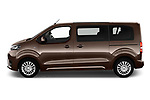 Car Driver side profile view of a 2018 Toyota Proace-Verso MPV 5 Door Minivan Side View