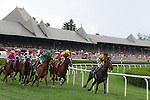 16 August 2008: Fanfire takes the early lead in a turf race at Saratoga Race Course in Saratoga Springs, New York.