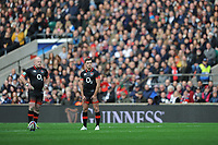 George Ford of England takes a penalty kick during the Old Mutual Wealth Series match between England and Argentina at Twickenham Stadium on Saturday 11th November 2017 (Photo by Rob Munro/Stewart Communications)