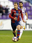 Real Valladolid's Alex Lopez (r) and Levante UD's Paco Montanes during La Liga Second Division match. March 11,2017. (ALTERPHOTOS/Acero)