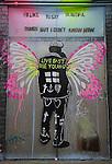 Banksy British graffiti street artist. Cans Festival. Waterloo, London. UK 2008.