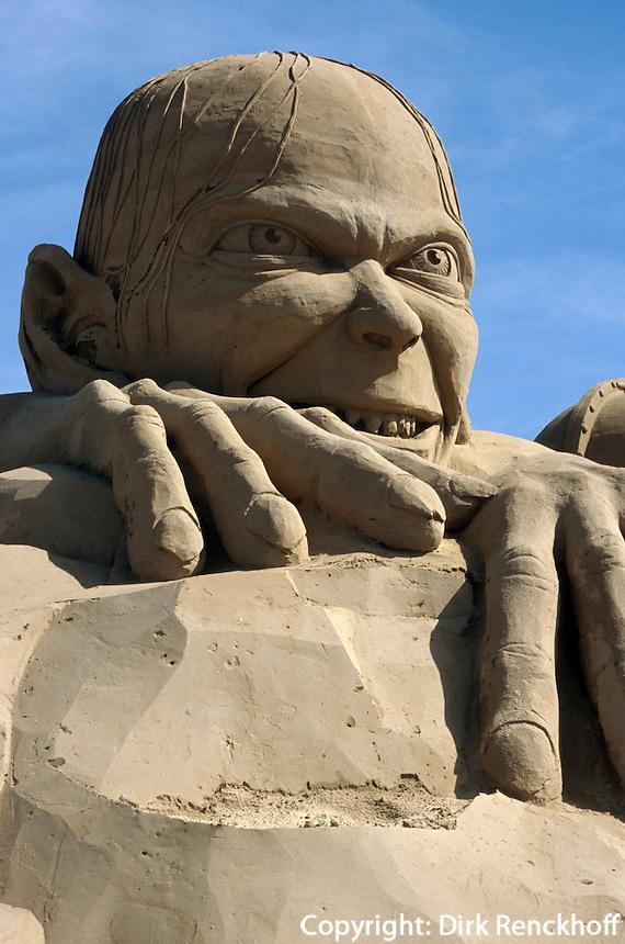 Belgien, Flandern, Sandskulpturenfestival in Zeebrugge