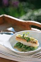 """Europe/France/Provence-Alpes-Côte d'Azur/84/Vaucluse/Avignon: Filet de Saint Pierre en croute de gingembre  recette  de l'Hotel Restaurant """" La Mirande"""
