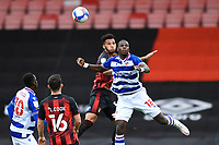 Lloyd Kelly of AFC Bournemouth wins a header from Lucas Joao of Reading during AFC Bournemouth vs Reading, Sky Bet EFL Championship Football at the Vitality Stadium on 21st November 2020