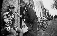 Fleche Wallonne 2012..Dennis Vanendert interviewed by Carl Berteele.