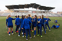 Denver, CO - April 3, 2019: The USWNT trains in preparation for an international friendly.