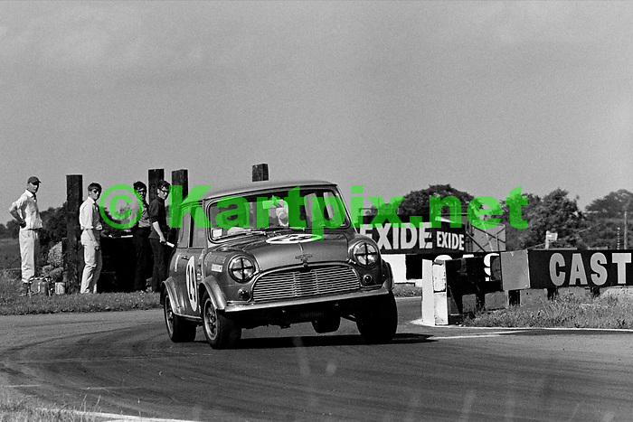 Alec Poole in saloon car action at Croft in 1969.
