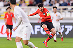 Son Heungmin of South Korea (R) in action during the AFC Asian Cup UAE 2019 Group C match between South Korea (KOR) and China (CHN)  at Al Nahyan Stadium on 16 January 2019 in Abu Dhabi, United Arab Emirates. Photo by Marcio Rodrigo Machado / Power Sport Images